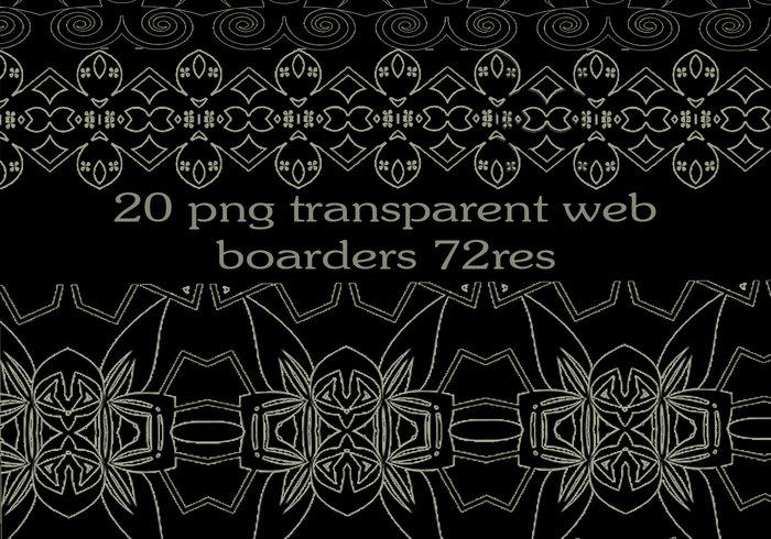 20 free png transparent web borders.
