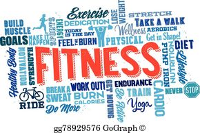 Physical Fitness Clip Art.