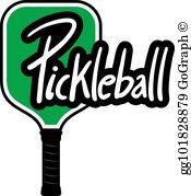 Pickleball Clip Art.