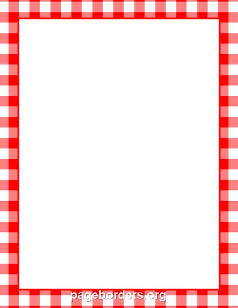 Free Picnic Clipart Borders