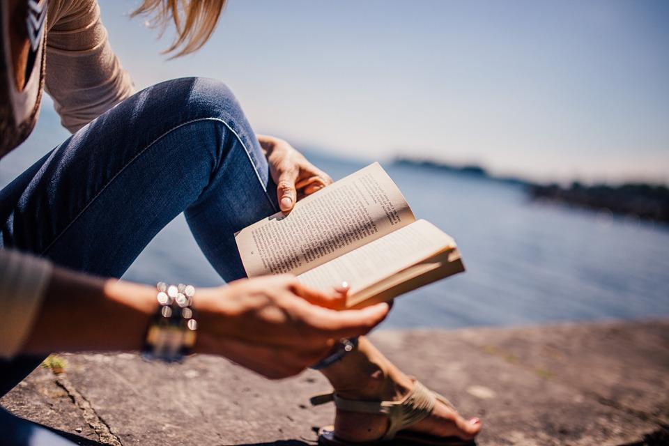 Free photo: Reading, Book, Girl, Woman, People.