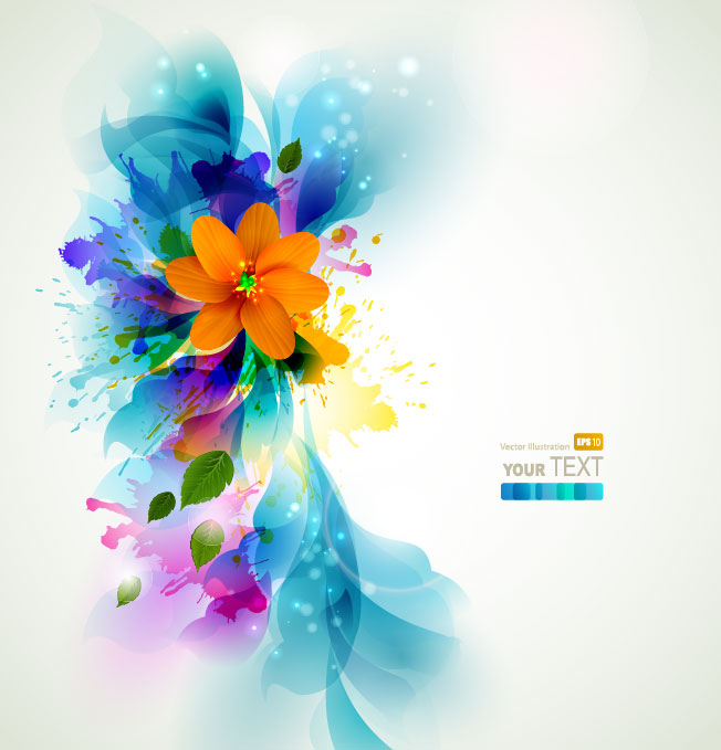colorful flower background vector 2 download free vector colorful.