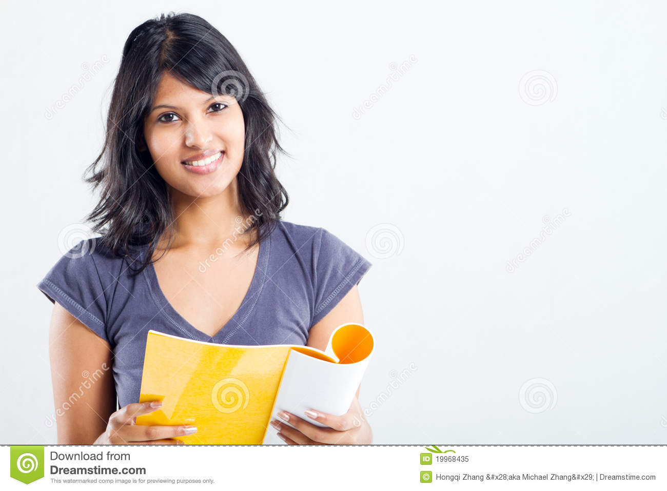 College Student Reading Royalty Free Stock Photo.