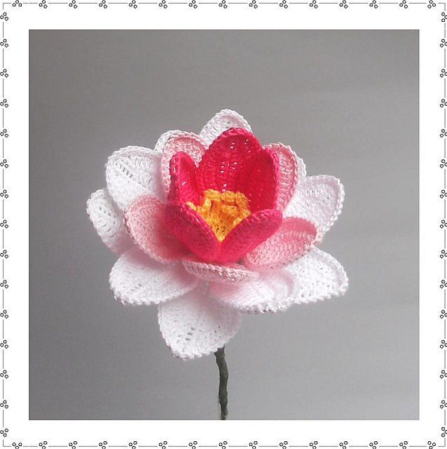 Crochet Pretty Water Lily with Free Pattern (Video).