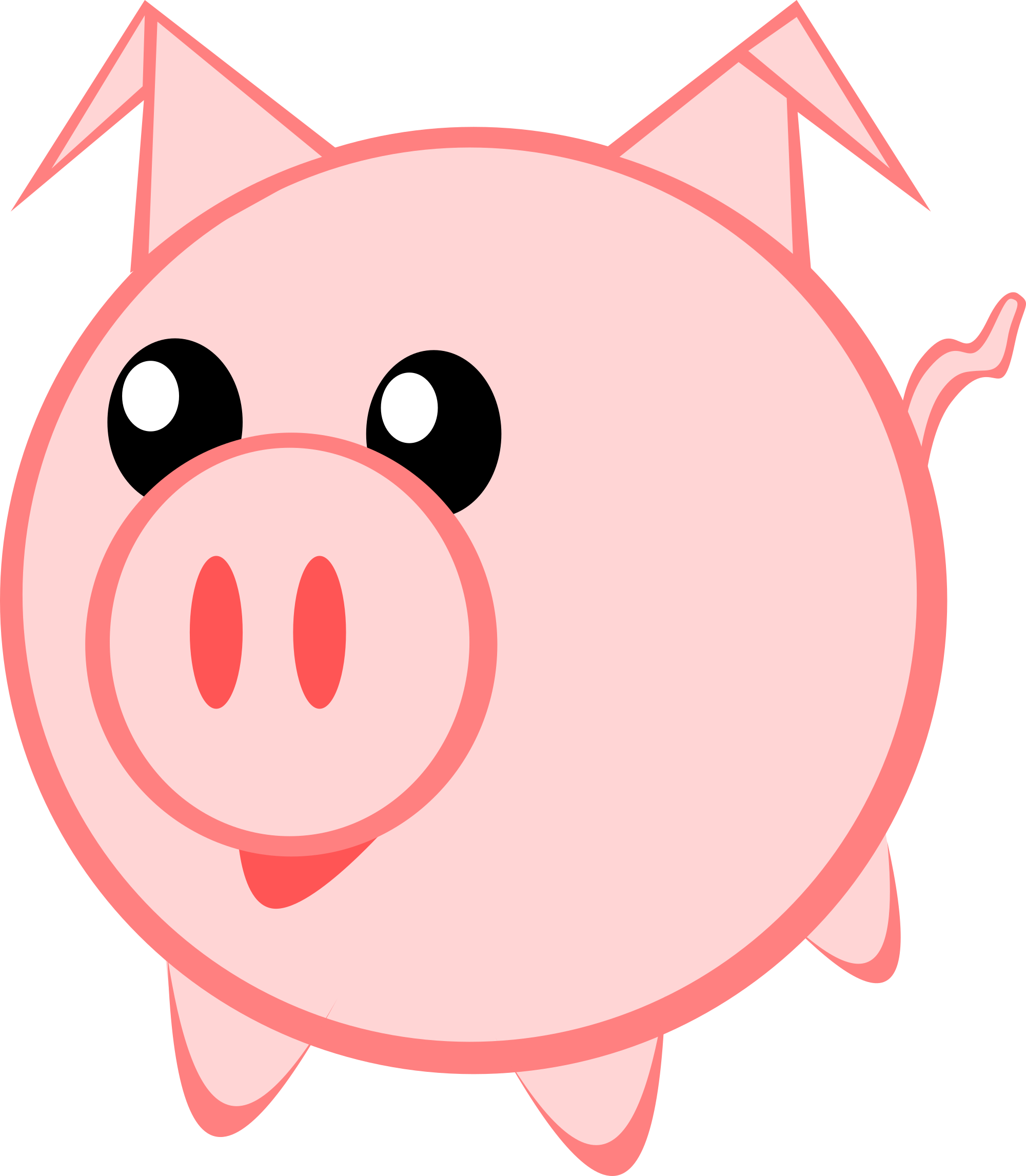 Free pigs clipart and vector images.