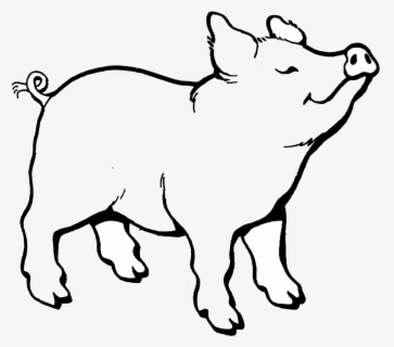 Free Pig Black And White Clip Art with No Background.