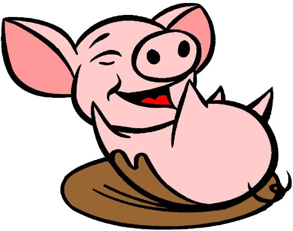 Muddy Pig Clipart.