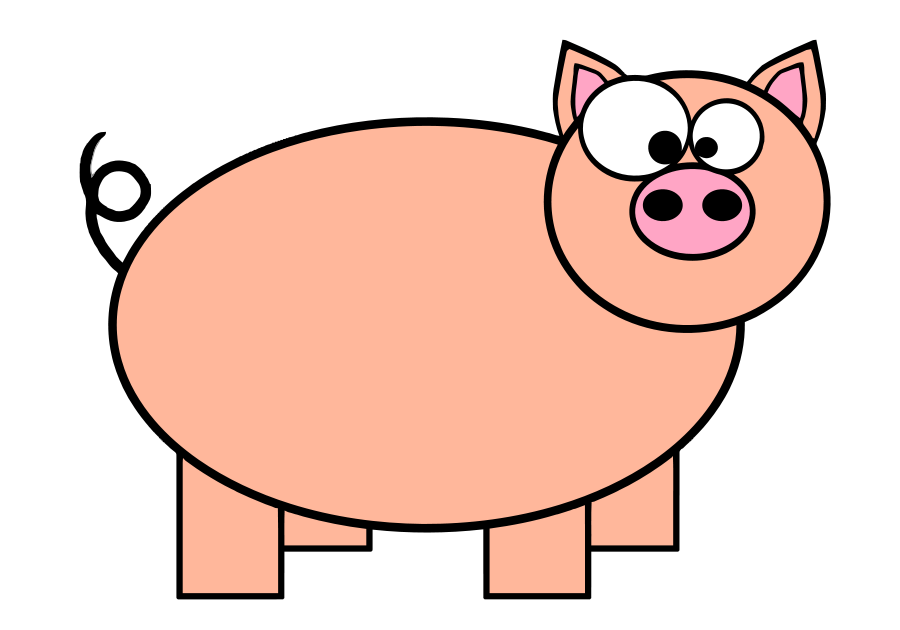 Domestic pig Pig roast Cartoon Clip art.