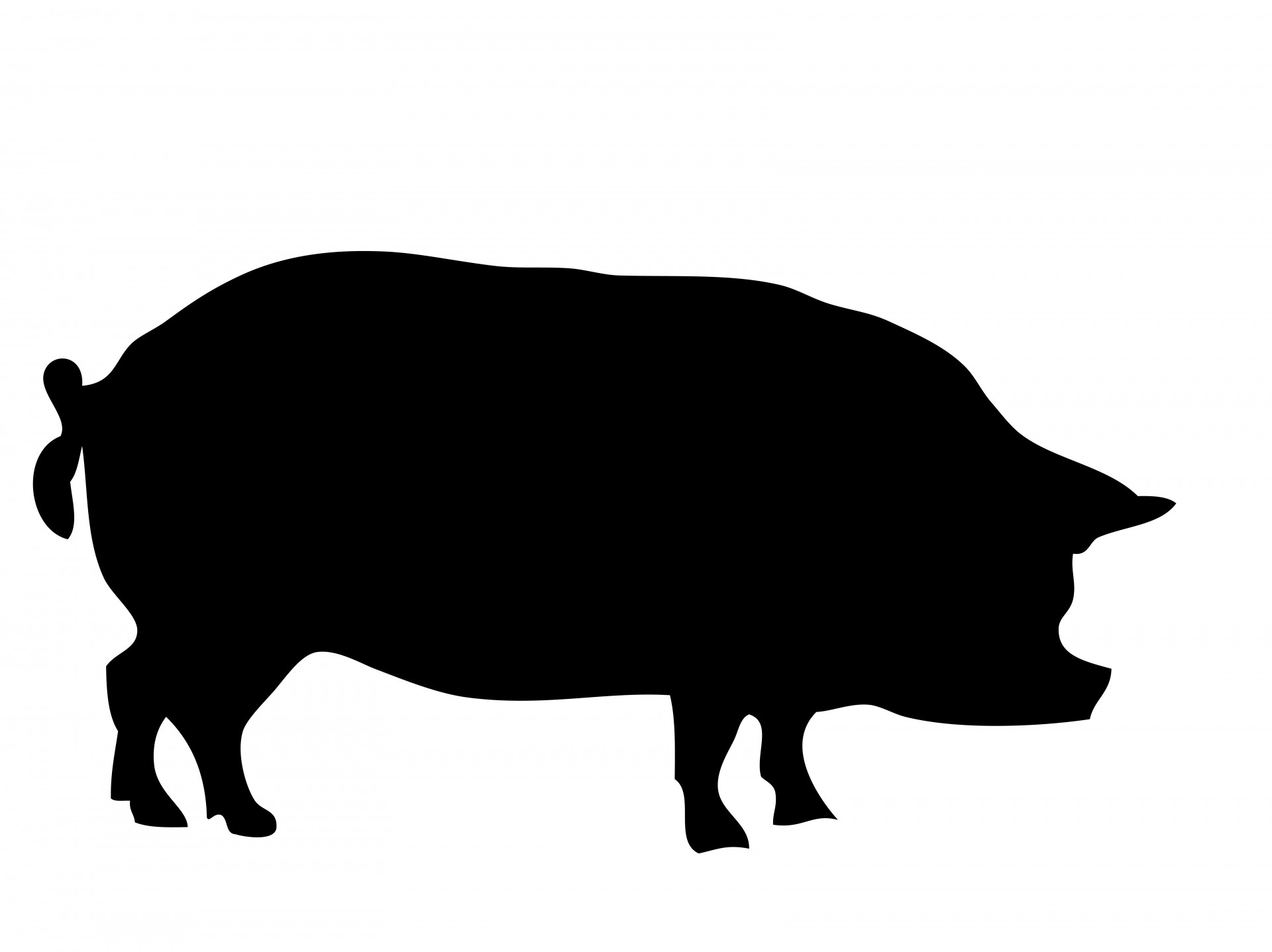 Free Pig Silhouette, Download Free Clip Art, Free Clip Art on.