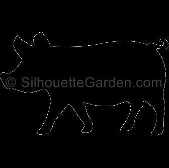 Pig Silhouette Clip Art.