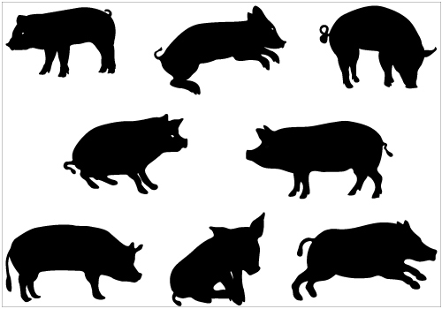 Free Pig Silhouette Images, Download Free Clip Art, Free.
