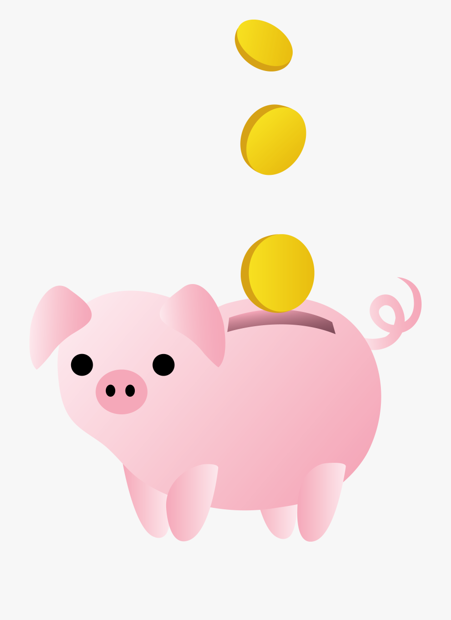 Piggy Bank With Coins Free.