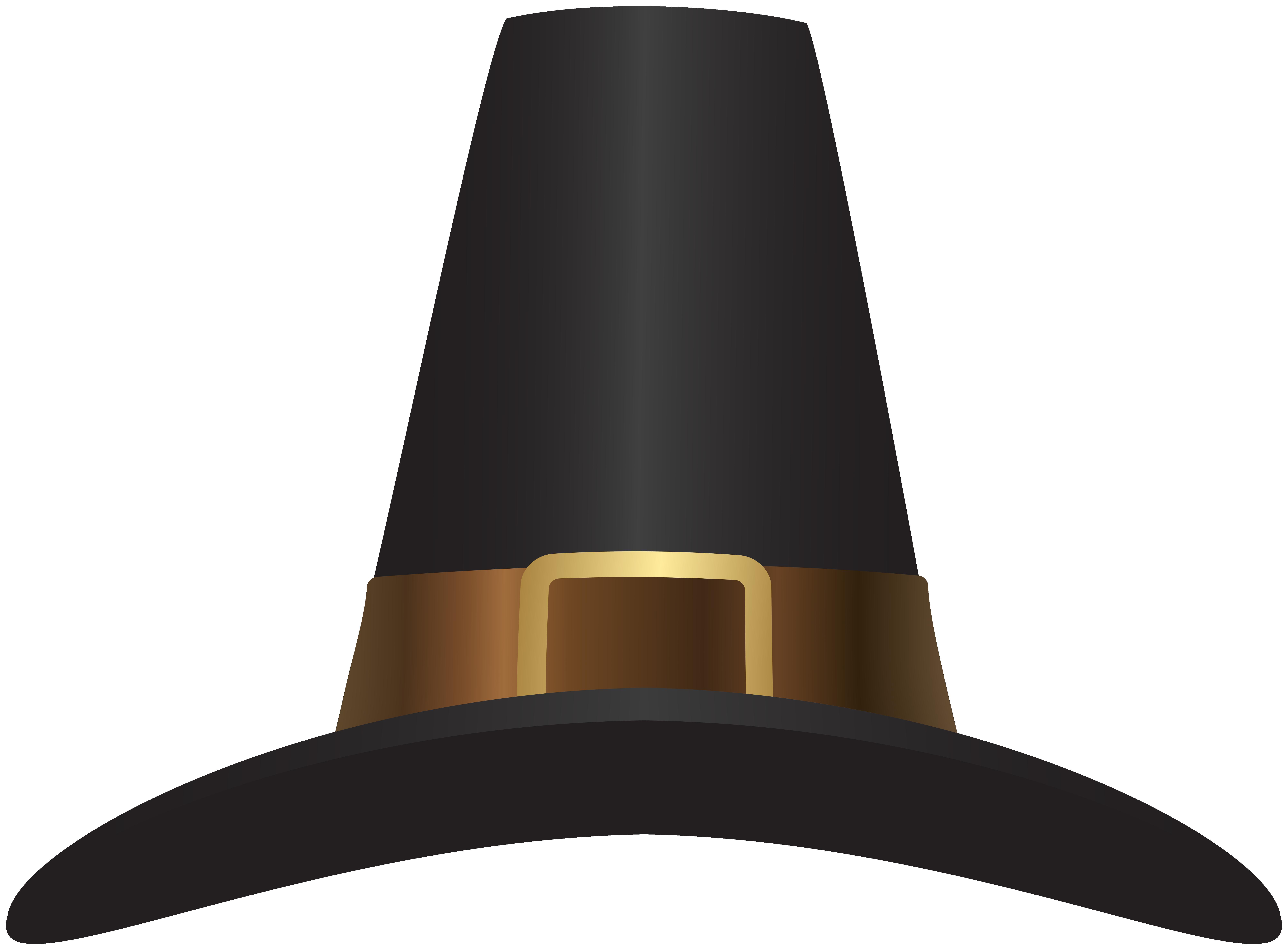 Pilgrim Hat Clip Art PNG Image.