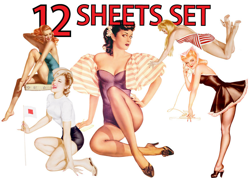 Free pinup clipart 1 » Clipart Station.