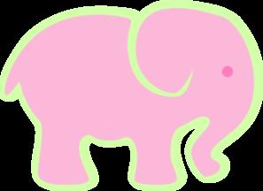 Pink Elephant Clip Art at Clker.com.