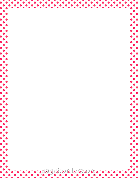 Pink and White Polka Dot Border: Clip Art, Page Border, and Vector.