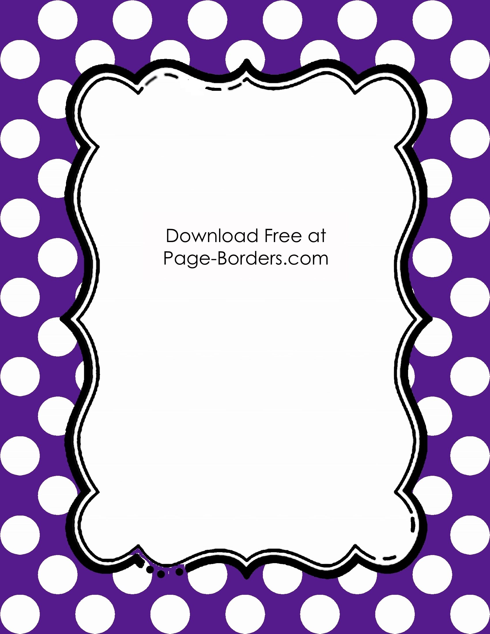 Free Polka Dot Border Templates in 16 Colors.
