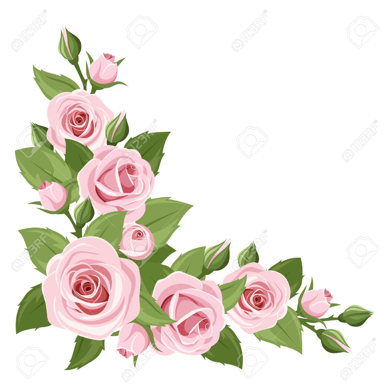Pink roses clipart free 2 » Clipart Station.