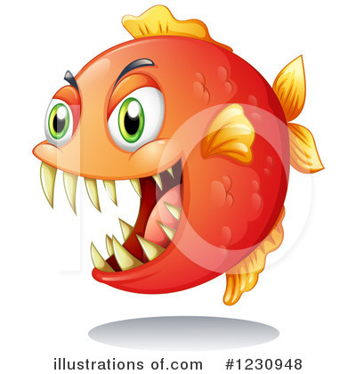 Piranha Clipart #1230948.