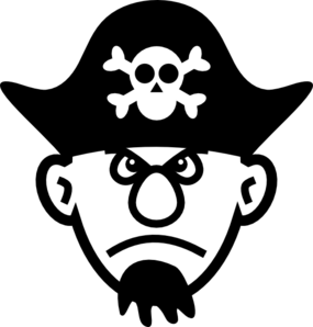 Free Black And White Pirate Clipart, Download Free Clip Art.