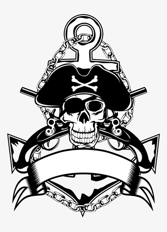Free Pirate Png Black And White & Free Pirate Black And.