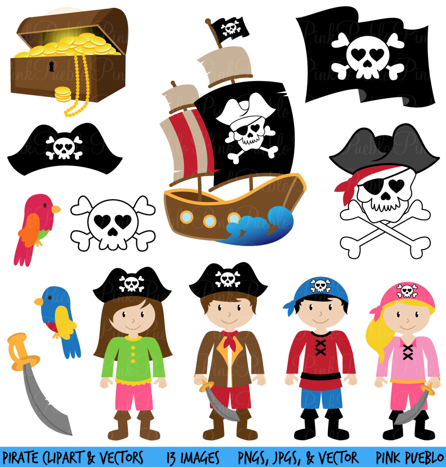 Free to share pirate clipart.
