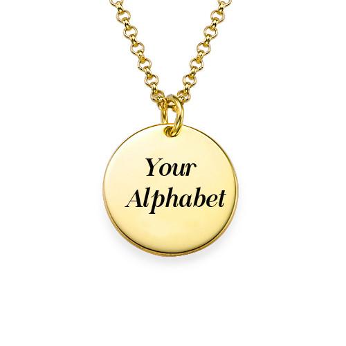Write Your Name Alphabet on Golden Pendant Online Free.