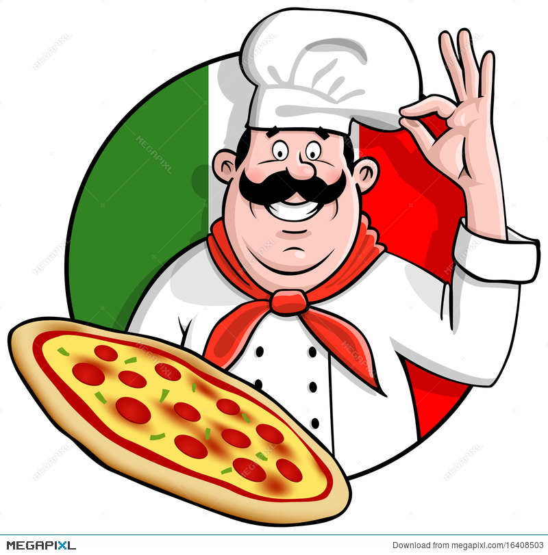 Pizza Chef Illustration 16408503.
