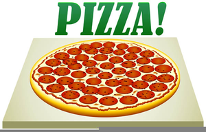 Pepperoni Pizza Clipart Free.