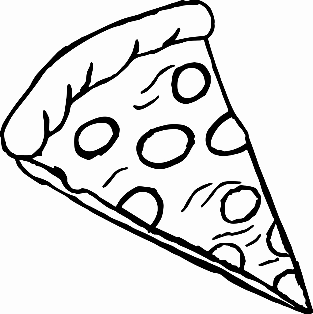 Free Pizza Clipart Black And White.