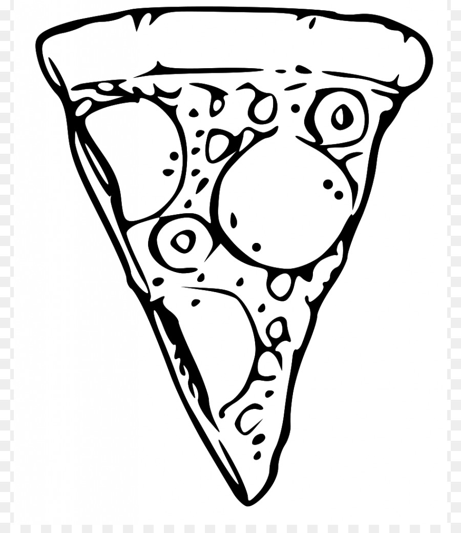Pizza Black And White Png & Free Pizza Black And White.png.