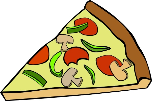 Pepperoni Pizza Slice clip art Free vector in Open office.