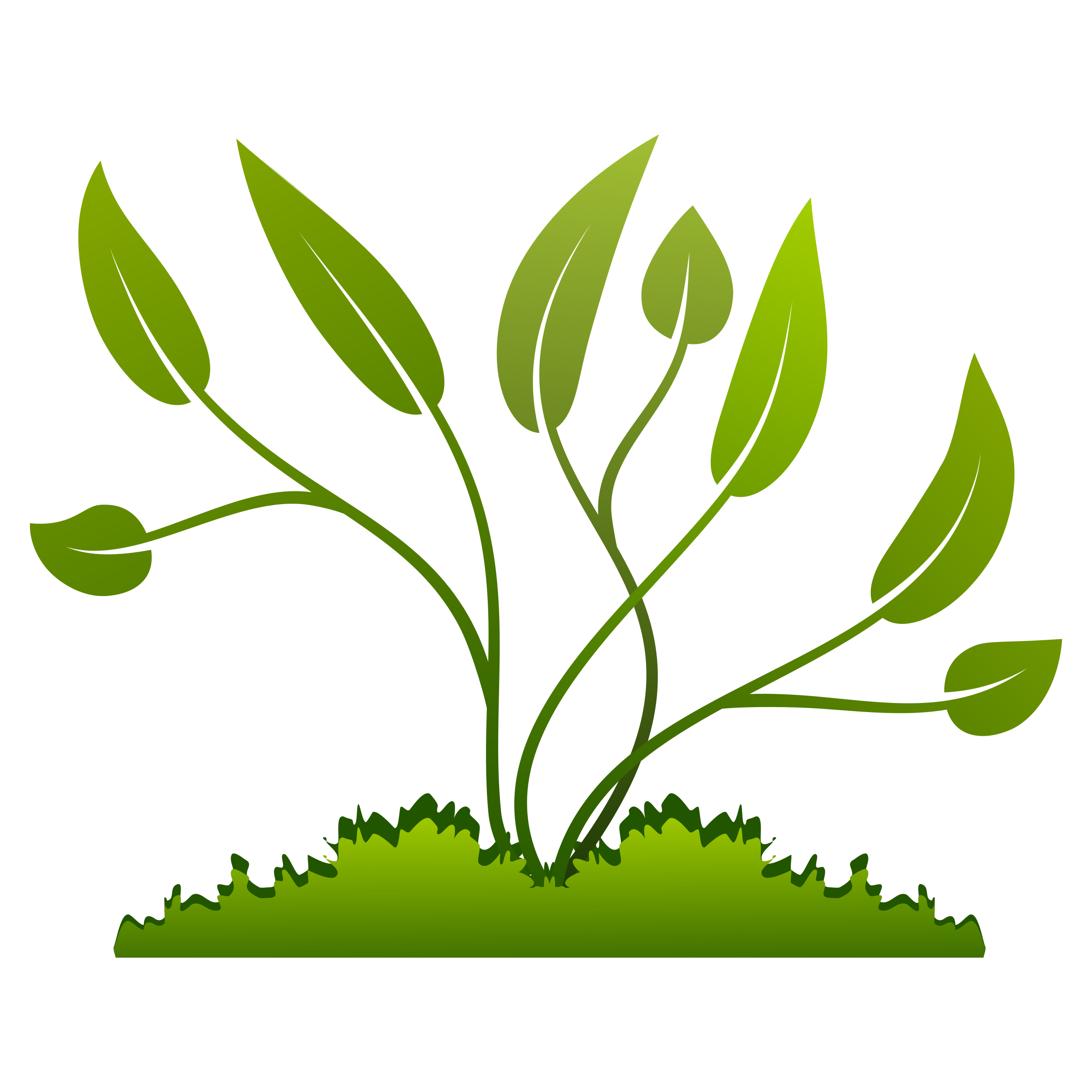Plants growing out of the Ground vector clipart image.