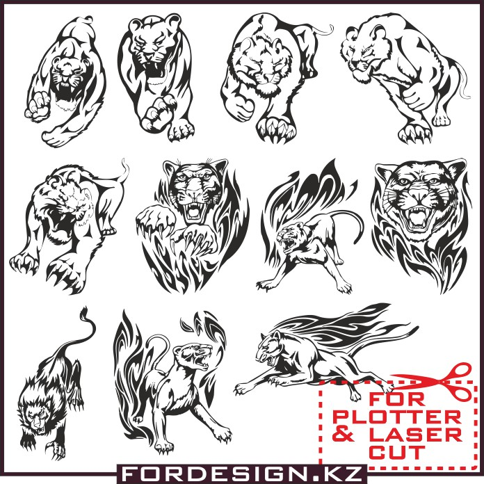 Lion vector: Vector lion clipart for plotter cutting cdr.