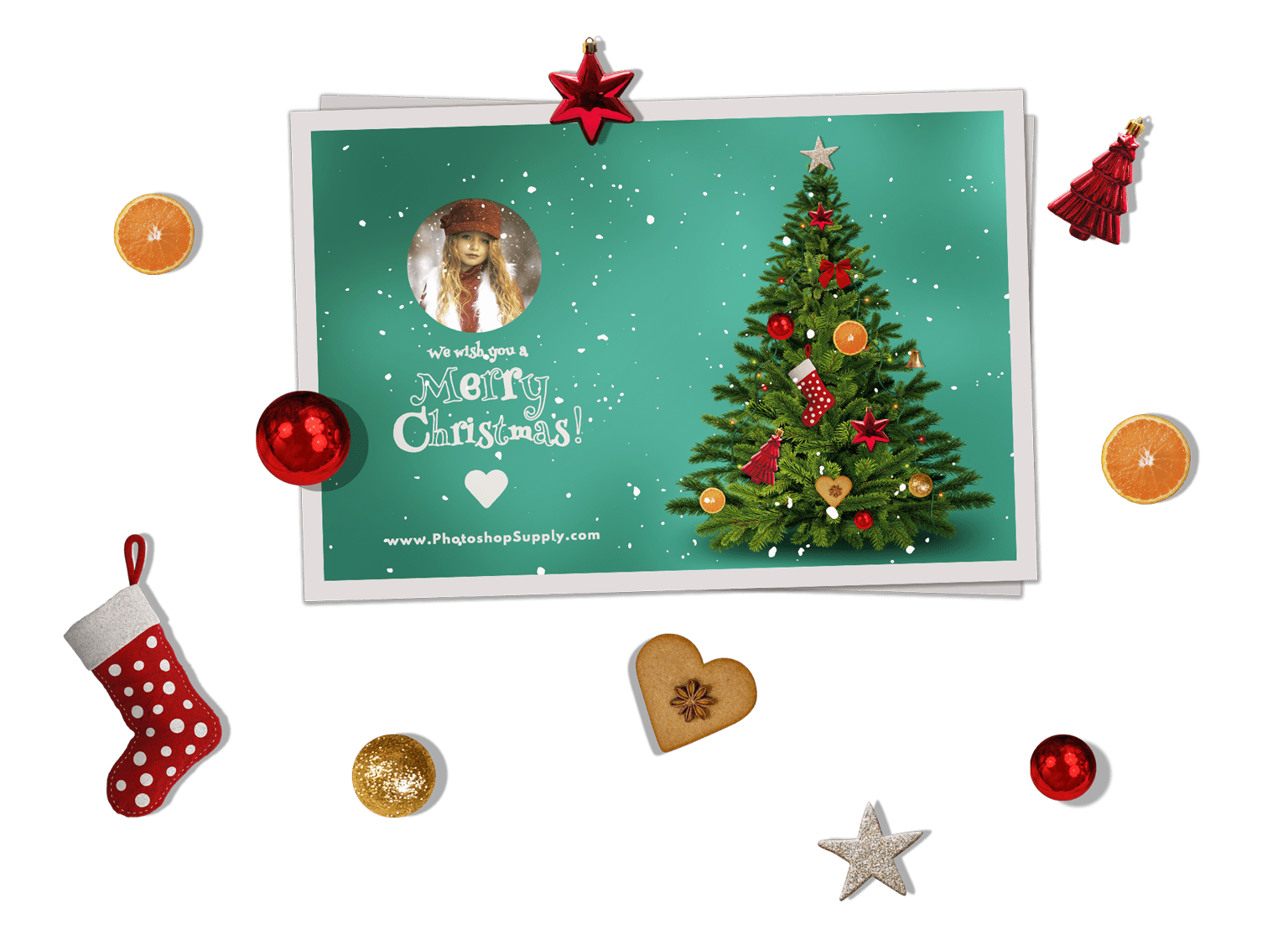 Christmas Card Templates For Photoshop.