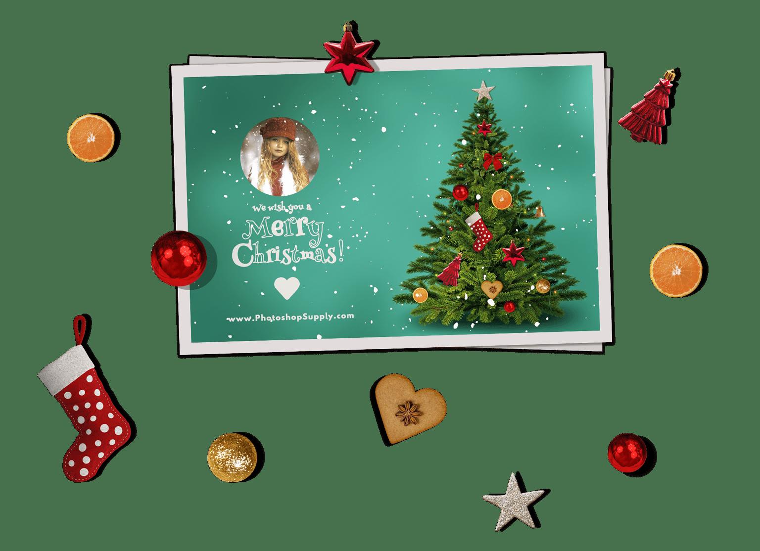Christmas Card Templates For Photoshop.
