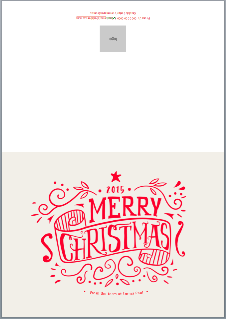 Merry and Bright! Free Christmas Card Template for 2015.