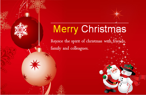 MS Word Colorful Christmas Card Templates.