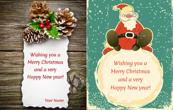 NEW: Free PSD Christmas Cards.