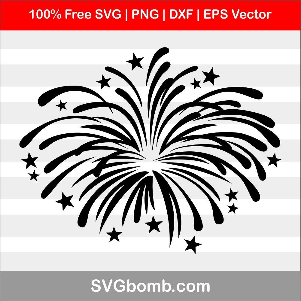 Fireworks Black SVG Cutting File.