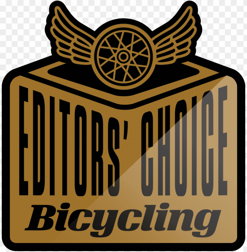 editors choice bicycling logo PNG image with transparent background.