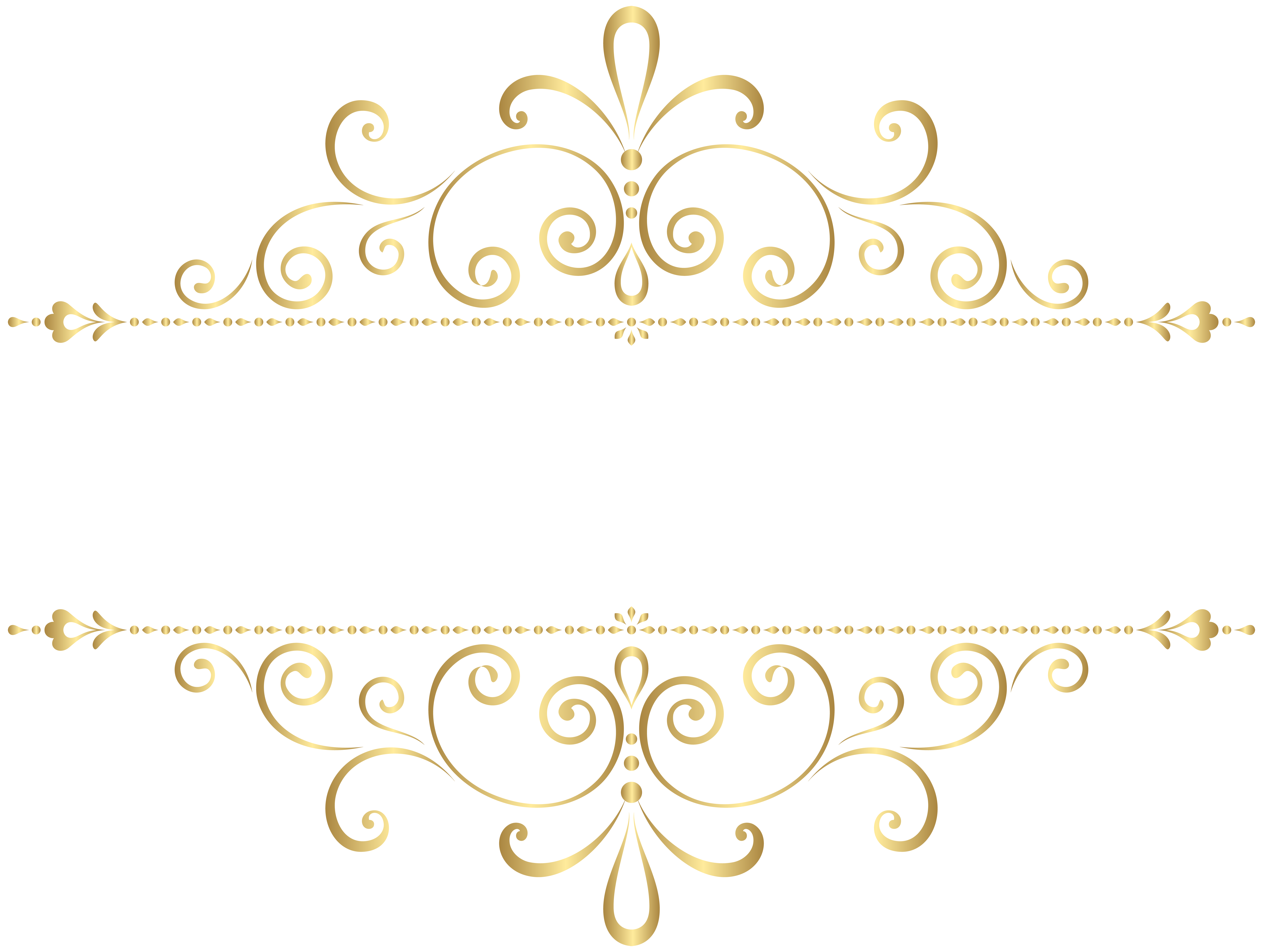 Gold Element PNG Clipart Image.