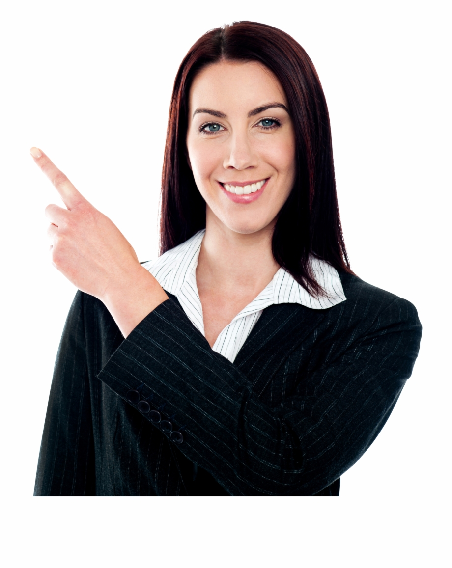 Women Pointing Left Free Commercial Use Png Images.