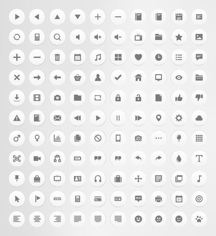 Free Download: 110 Flat Icons For Personal or Commercial Use [with PSDs].