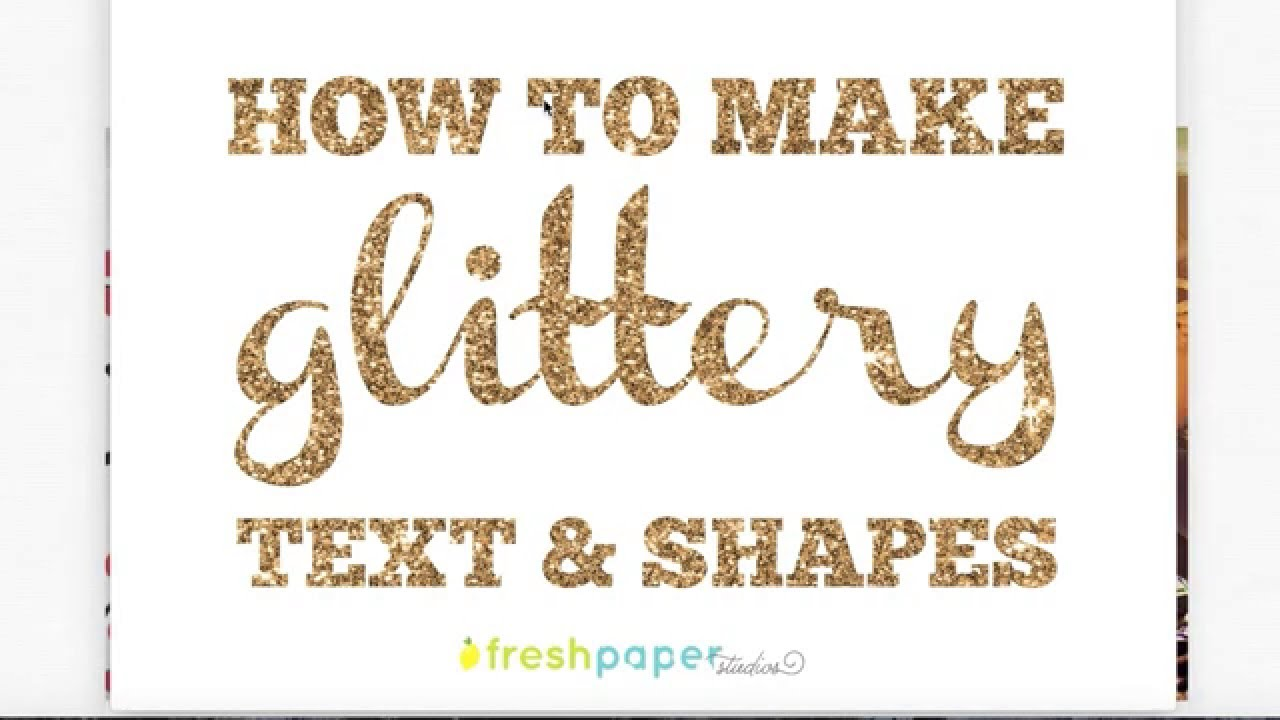How to make glittery text in PicMonkey using overlays.