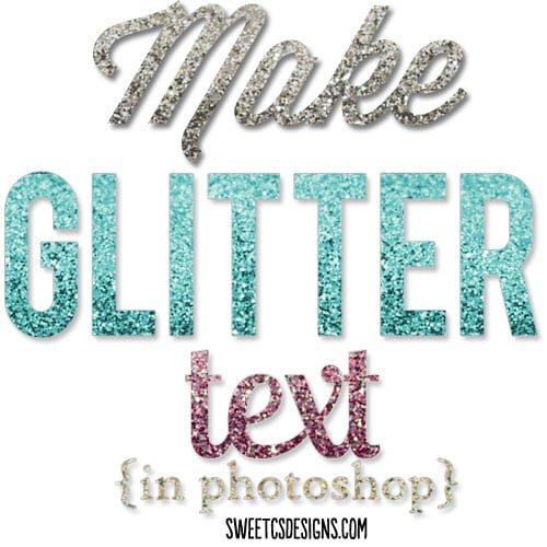 Make Glitter Text in Photoshop.