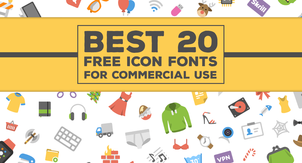 Best 20 Free Icon Fonts For Commercial Use.