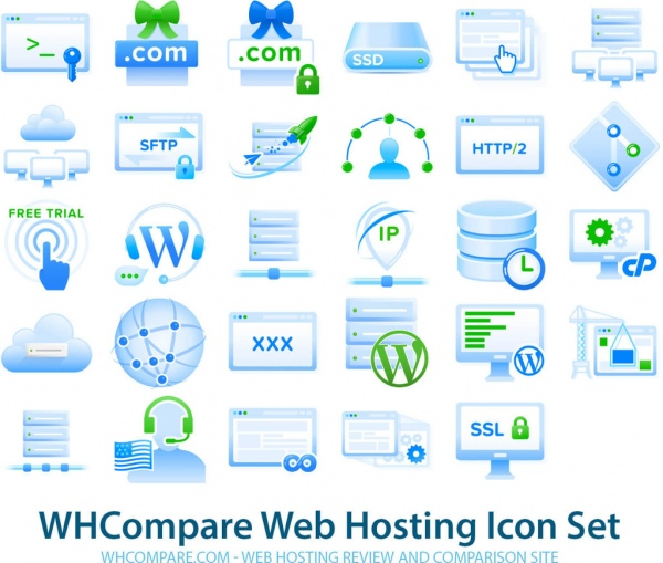 Free web hosting icons png vectors Free vector in Open office.
