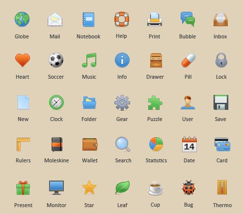 35 Toolbar Icons.