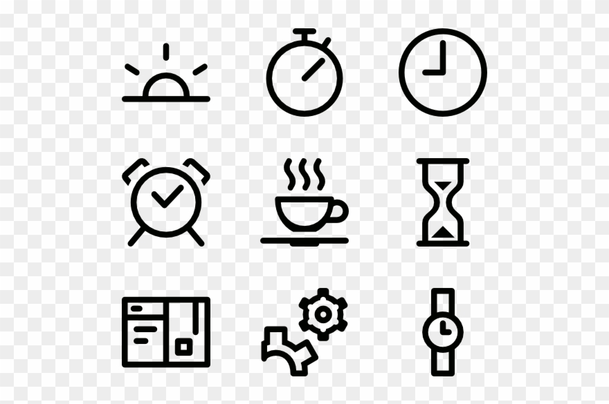 Schedule Icons Free Time.